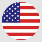 Flag of the United States Classic Round Sticker