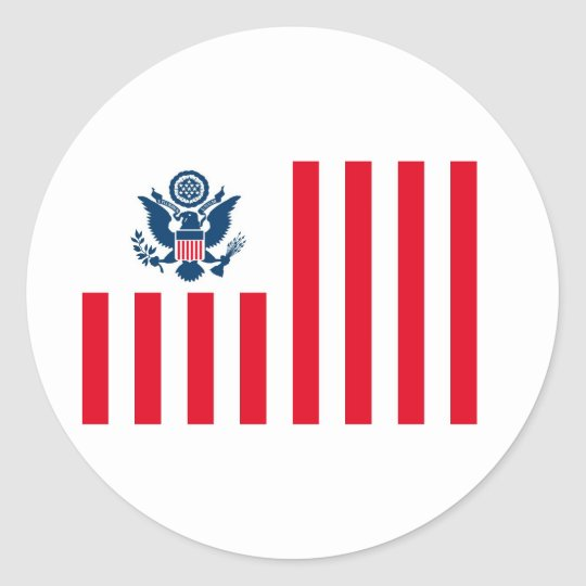 Flag of the United States Customs Service Classic Round Sticker