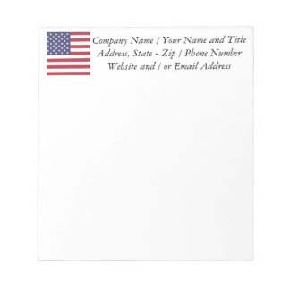 Flag of the United States Notepad