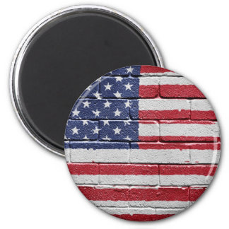 Flag of the United States of America 2 Inch Round Magnet