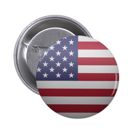Flag of the United States of America Button