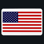 """Flag Of The United States Of America Flexi Magnet<br><div class=""""desc"""">Flag Of The United States Of America Premium Flexi Fridge/Car Magnet! In it&#39;s exact dimensions and color,  the American Flag is highlighted on this great rectangle premium flexi Magnet.</div>"""