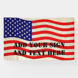Flag of the United States of America - grungy Banner