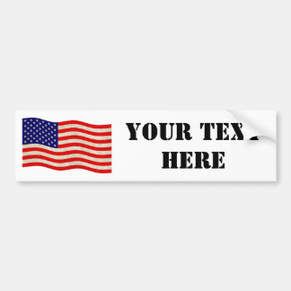 Flag of the United States of America - grungy Bumper Sticker