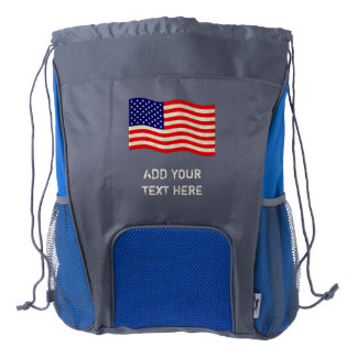 Flag of the United States of America - grungy Drawstring Backpack