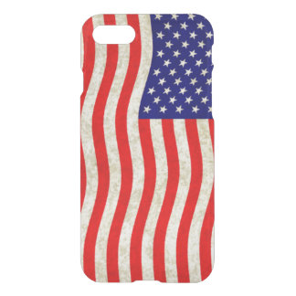 Flag of the United States of America - grungy iPhone 8/7 Case