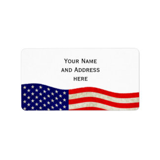 Flag of the United States of America - grungy Label