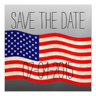 Flag of the United States of America - grungy Magnetic Invitations