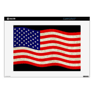 """Flag of the United States of America - grungy Skins For 15"""" Laptops"""