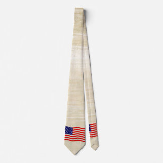 Flag of the United States of America - grungy Tie