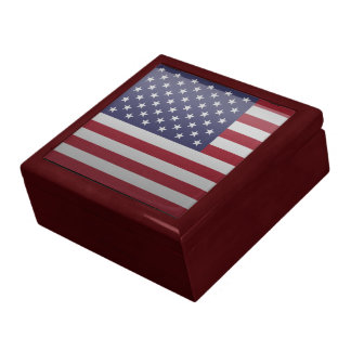 Flag of the United States of America Jewelry Box