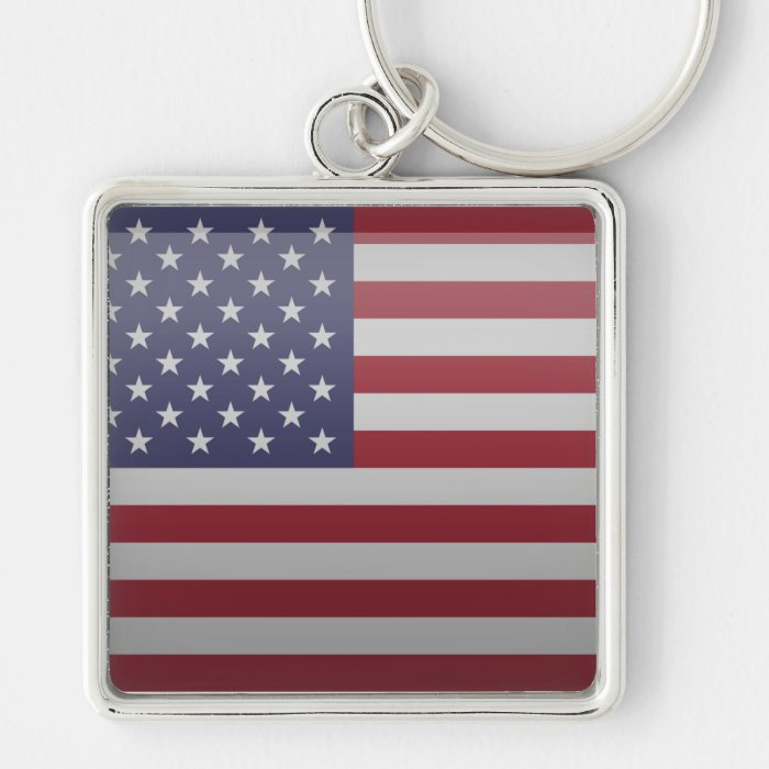 Flag of the United States of America Keychain