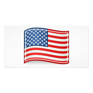 Flag of the United States of America Customized Photo Card