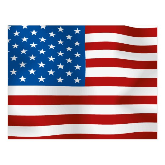Flag of the United States of America Postcard