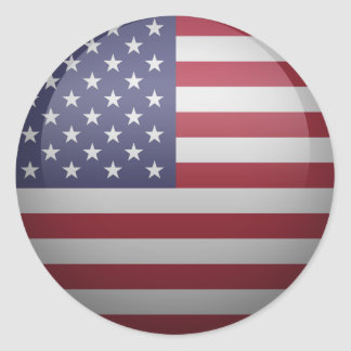 flag of the United States of America Classic Round Sticker