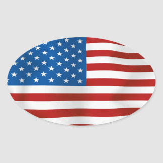 Flag of the United States of America Oval Sticker