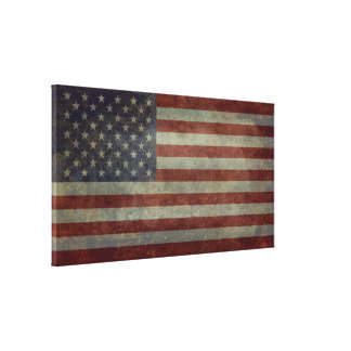 Flag of the United States of America Vintage Canvas Print