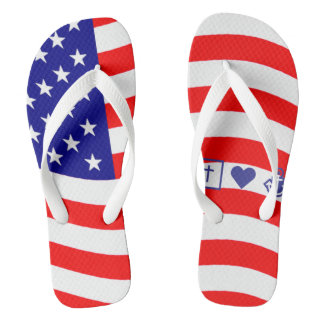 Flag of the United States of America - your ideas Flip Flops
