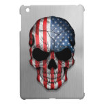 Flag of The United States on a Steel Skull Graphic iPad Mini Covers