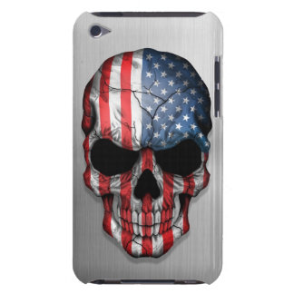 Flag of The United States on a Steel Skull Graphic iPod Touch Case