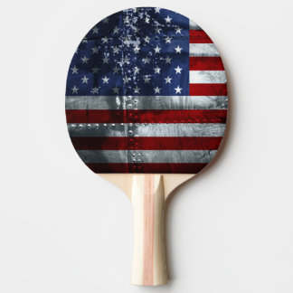 Flag of the United States Ping Pong Paddle