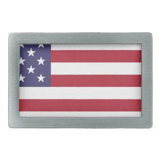 Flag of the United States Rectangular Belt Buckle