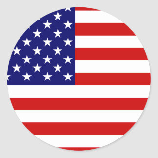 Flag of the United States Round Stickers