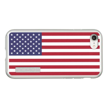 USA Themed Flag of the United States Silver iPhone Case