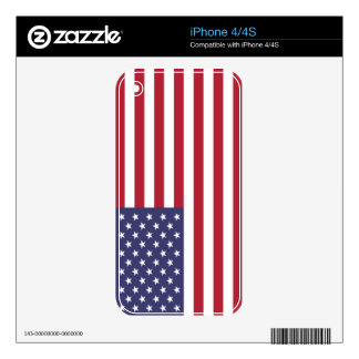 Flag of the United States Decals For The iPhone 4