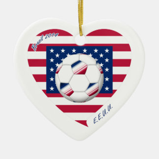 Flag of the UNITED STATES SOCCER wins of the world Ceramic Ornament