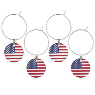 Flag of the United States Wine Glass Charm