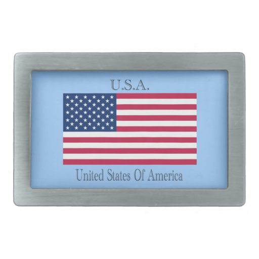 Flag of the Unted States Rectangular Belt Buckles