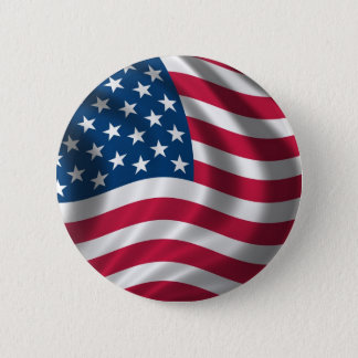 Flag of the USA Button