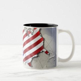 Flag of the USA Two-Tone Coffee Mug