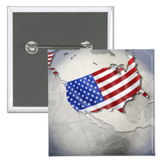 Flag of the USA Pinback Button