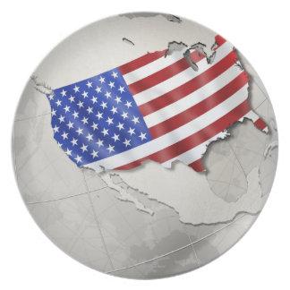 Flag of the USA Dinner Plates