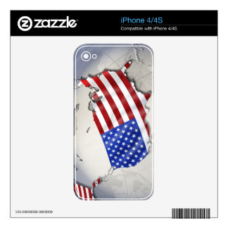 Flag of the USA Skins For iPhone 4S