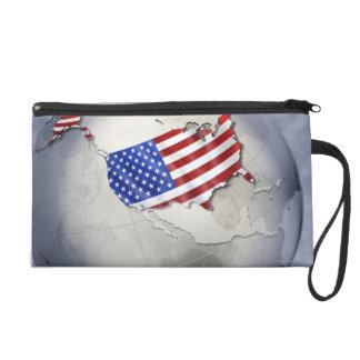 Flag of the USA Wristlet Purse