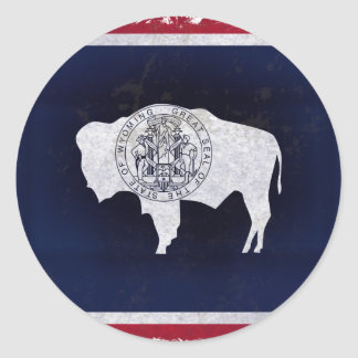 Flag of the Wyoming Classic Round Sticker