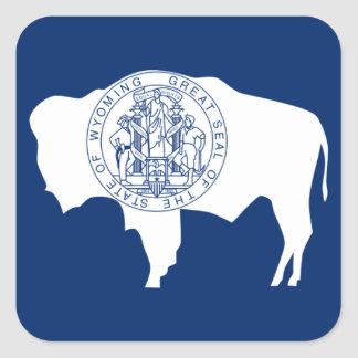 Flag of the Wyoming Square Sticker