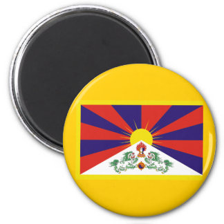 Flag of Tibet 2 Inch Round Magnet