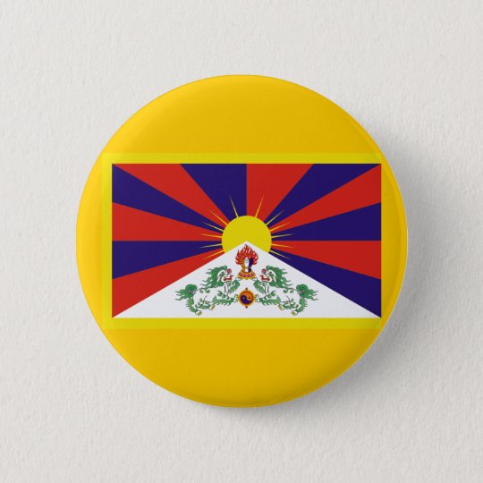 Flag of Tibet Button