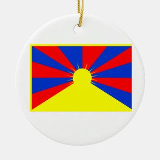 Flag of Tibet Ceramic Ornament