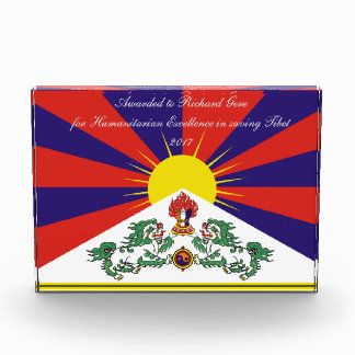 Flag of Tibet  or Snow Lion Flag Acrylic Award