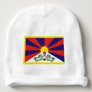 Flag of Tibet  or Snow Lion Flag Baby Beanie