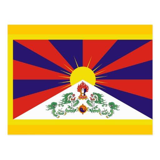 Flag of Tibet Postcard