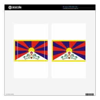 Flag Of Tibet Skins For Kindle Fire