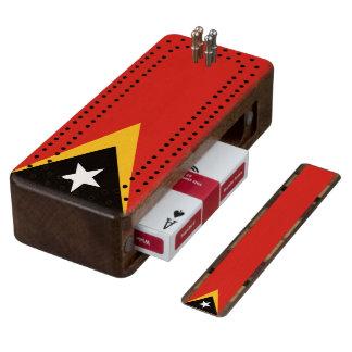Flag of Timor-Leste Cribbage Board