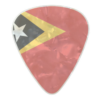 Flag of Timor-Leste Guitar Picks