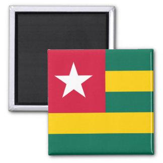 Flag of Togo 2 Inch Square Magnet